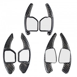 Free Shipping Carbon Style DSG Paddle Shifters Extensions Cover Trim 2pcs For AUDI