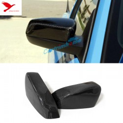 Free Shipping 2pcs Carbon Fiber Side Rearview Rear View Mirror Cover Trim For Ford Mustang 2015-2019