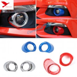 Free Shipping ABS Chrome Front Fog Light Lamp Cover Trim 2pcs for Ford Mustang 2015-2019