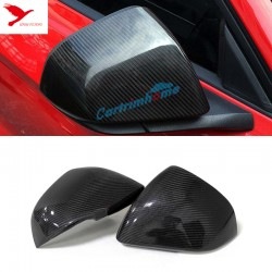 Free Shipping US version! 2pcs Carbon Fiber Side Rearview Rear View Mirror Cover Trim For Ford Mustang 2015-2019