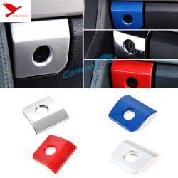 Free Shipping ABS Interior Storage Box Handle Cover Trim 1pcs For Ford Mustang 2015 - 2019