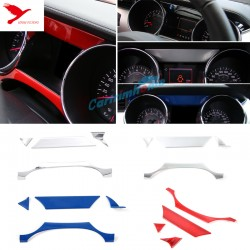 Free Shipping ABS Interior Dashboard Meter Stripe Cover Trim 4pcs For Ford Mustang 2015 - 2019