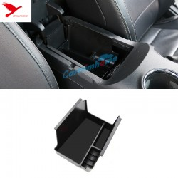 Free Shipping Black Interior Armrest Storage Box Holder For Ford Mustang 2015-2019