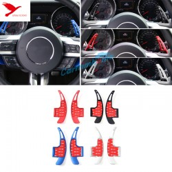 Free Shipping 1 Pair DSG Paddle shifters Extensions For Ford Mustang 2015 - 2019