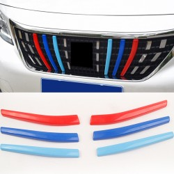 Free Shipping 3M-Color Front Center Grill Grid Grille Cover Trim for Peugeot 3008 Access / Active / Allure / GT 2016-2019