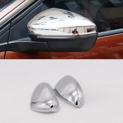 Chrome Rearview Side Door Mirror Cover Trim 1pcs For Peugeot 3008 Access / Active / Allure / GT 2016-2019
