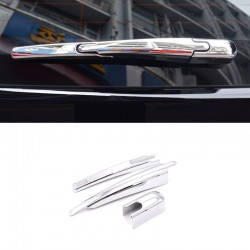 Chrome Rear Window Wiper Noozle Cover Trim 3pcs For Peugeot 3008 Access / Active / Allure / GT 2016-2019