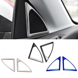 Steel Interior Door Stereo Speaker Cover Trim 2pcs For Peugeot 3008 Access / Active / Allure / GT 2016-2019