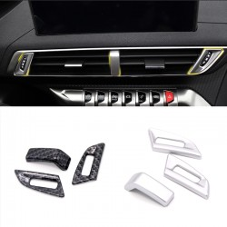 3* Inner Middle Console Air Condition Vent Cover For Peugeot 3008 Access / Active / Allure / GT 2016-2019