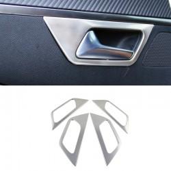 4*Accessories Steel Interior Inner Door Handle Bowl for Peugeot 5008 2017 2018