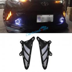 Free shipping Fog Light Daytime Running Light DRL LED Day Light 2Pcs For Toyota C-HR CHR 2016-2019