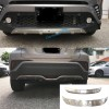 Stainless Steel Front & Rear Bumper Skid Protector Guard Cover For Toyota C-HR CHR 2016-2019