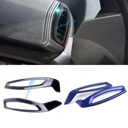 Free shipping LHD Carbon Style Interior Front Upper Air Vent Cover Trim For Toyota C-HR CHR 2016-2019