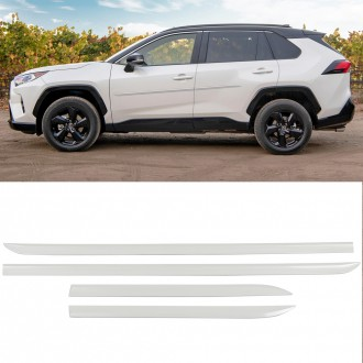 Free Shipping Left & Right Body Side Molding Door Bump Protector Edge Guards Fits Toyota RAV4 2019-2021