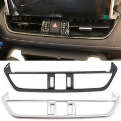Free Shipping Carbon Style Inner Middle Console Air Condition Vent Cover Trim For Toyota RAV4 2019 2020 2021
