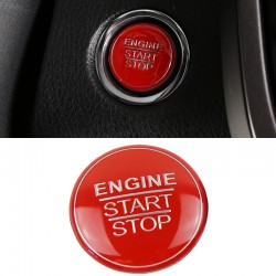 Free Shipping ABS Red Interior Engine Start Button Cover Trim 1pcs For Toyota RAV4 2019 2020 2021