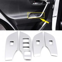 Free Shipping LHD Matte Door Armrest Lift Frame Cover Trim For Toyota RAV4 2019 2020 2021