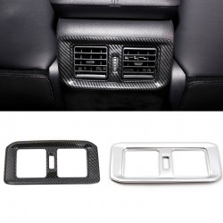 Free Shipping Carbon Style Rear Armrest Box Air Condition Vent Cover For Toyota RAV4 2019 2020 2021