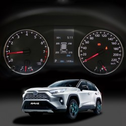 Free Shipping Smart Car TPMS Tyre Pressure Monitoring System Digital LCD Dash Board Display Auto Security Alarm for Toyota Rav4 2019 2020 2021(LE - Not a hybrid Shows psi, other shows kpa)