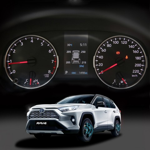 Free Shipping Smart Car TPMS Tyre Pressure Monitoring System Digital LCD Dash Board Display Auto Security Alarm for Toyota Rav4 2019 2020 2021(LE[Basic version,Not a hybrid version] Shows psi, other shows kpa)