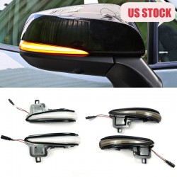 LED Side Mirror Sequential Dynamic Turn Signal Light For TOYOTA RAV4 2019 2020 2021