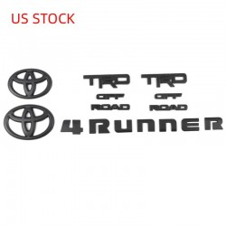 Free Shipping ABS Matte Black Style Emblem Overlay Kit For Toyota 4Runner TRD OFF ROAD 2014-2021
