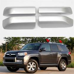 Free Shipping For Toyota 4Runner 2010-2021 Roof Rack Rail End Cover Shell Replacement Silver