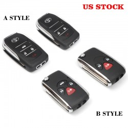 Free Shipping Toyota Modified Flip Folding Remote Blank Key Shell - must have G-Key For 4runner 2010-2021