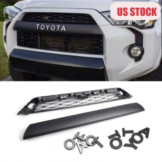 Ship to US mainland only!!!Not suitable for 2020!!!Free shipping For 2014-2019 Toyota 4Runner 2Piece Front Bumper Grille Replacement PZ327-35053 & PZ323-35056