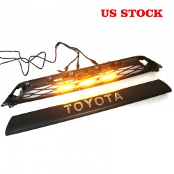 Not suitable for limited!!!Free Shipping With LED Light Front Bumper Grille Replacement For Toyota 4Runner 2020 2021