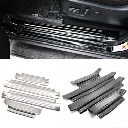 Stainless Door Sill Scuff Plate 4pcs For 2014-2021 Toyota 4Runner