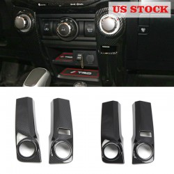 Free shipping LHD Interior Car Start Cover trim 2pcs For Toyota 4Runner 2014-2021