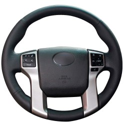 Free Shipping Hand-sewn Soft Leather Wear-resistant Steering Wheel Cover For Toyota 4Runner 2014-2021