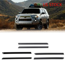 Free Shipping ABS Front Center Grilles Grille Molding Trims For Toyota 4Runner 2020 2021