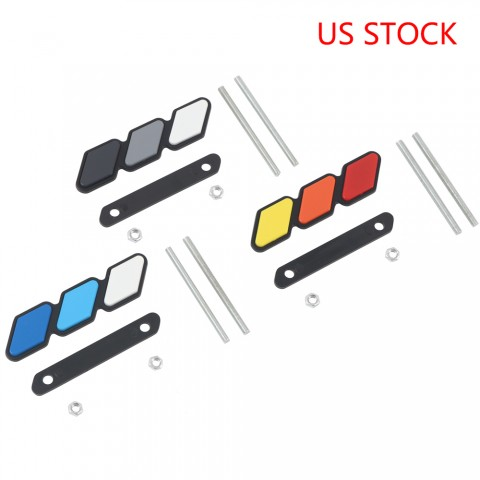 Free Shipping High quality For Toyota Tacoma 4Runner Tundra RAV4 Toyota tri-color 3stripes Grille badge