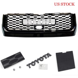 Ship to the Continental U.S. only!!!Free Shipping TRD PRO Front Bumper Grille Replacement For Toyota TUNDRA 2014-2021
