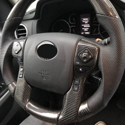 Free shipping Interior Steering Wheel Button Stripe Cover 2pcs For Toyota Tacoma 16-19 / TUNDRA 2014-2020