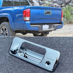 Free Shipping ABS Chrome Rear Door Handle Bowl Cover Trim 1pcs For Toyota Tacoma 2016-2019