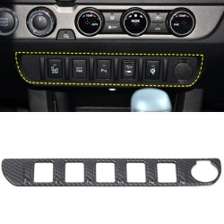 Not suitable for TRD PRO!!!Free Shipping Carbon Style Central Control Switch Function Button Panel For Toyota Tacoma 2016-2019