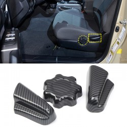 Free Shipping Carbon Style Car Seat Adjustment Button Cover Trim For Toyota Tacoma 2016-2019