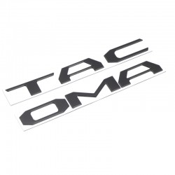 Free Shipping 3D Raised Tailgate Zinc Alloy Letters fits Toyota Tacoma 2016-2020 Metal Inserts with 3M adhesive backing (Matte Black)